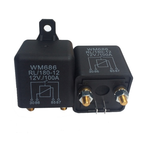 Heavy High Current 12VDC 100A AMP 2.4W Continuous Work 4 Pins Car Truck Auto Automotive On Off Start Relay Switch Fixing Hole for Large Motor, TOMTOP  - buy with discount