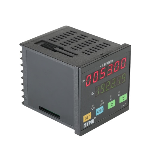 MYPIN Multi-functional Intelligent 90-260V AC/DC Preset 6 Digital Counter Length Counter Length Meter Relay Output PNP NPN