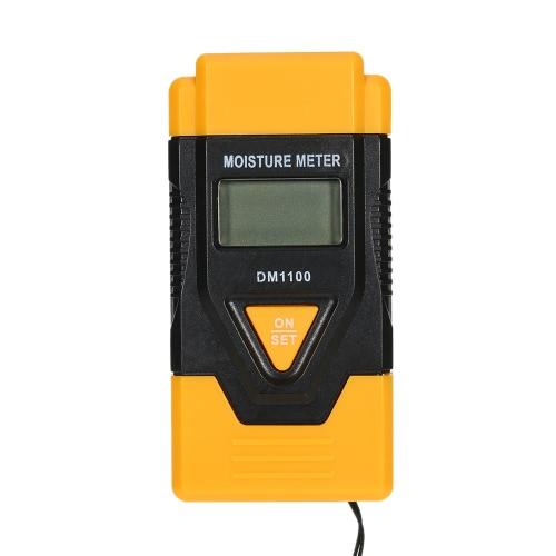 Wysokiej jakości cyfrowy przenośny LCD Drewno budowlane materiały Wilgotnościomierz Czujnik wilgotności Detector Wet Tester Pomiar temperatury