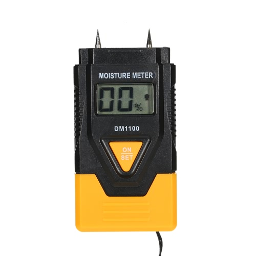 Portable High Quality Digital LCD Wood Building Material Moisture Meter Humidity Detector Wet Sensor Tester Temperature Measure