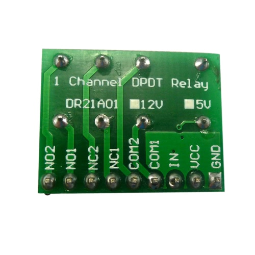 Mini DC 12V DPDT Double-Throw Relay Module Commutateur anti-polarité Moteur LED