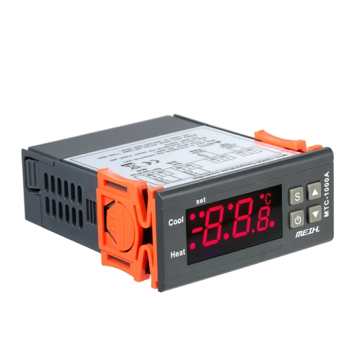 Termómetro de la calefacción y de la refrigeración del termómetro del regulador de la temperatura de AC220V Digital LED con el transmisor 2 del sensor de NTC
