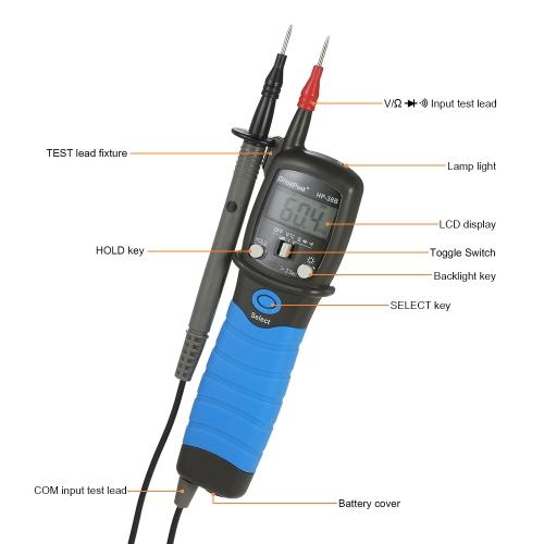 HoldPeak Handheld Backlight LCD Display Pen Type Digital Multimeter