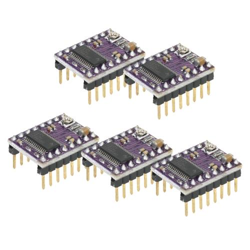Módulo de controlador de motor paso a paso DRV8825 5pcs para la impresora Reprap 3D