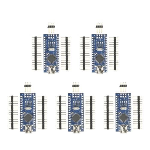 Arduino用5pcsナノV3.0 ATmega328P CH340G 16M 5VミニUSBマイクロコントローラボードモジュール