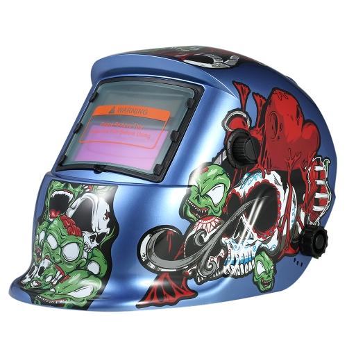 Casque de soudeur industriel Dark Power Auto assombrissement casque de soudage TIG MIG Cartoon Zombie Design
