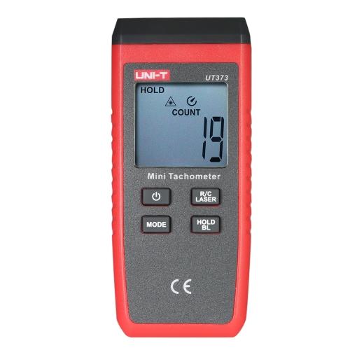 UNI-T UT373 Ручной жидкокристаллический цифровой тахометр Спидометр Tach Meter Измерение Rang 0 ~ 99999 COUNT