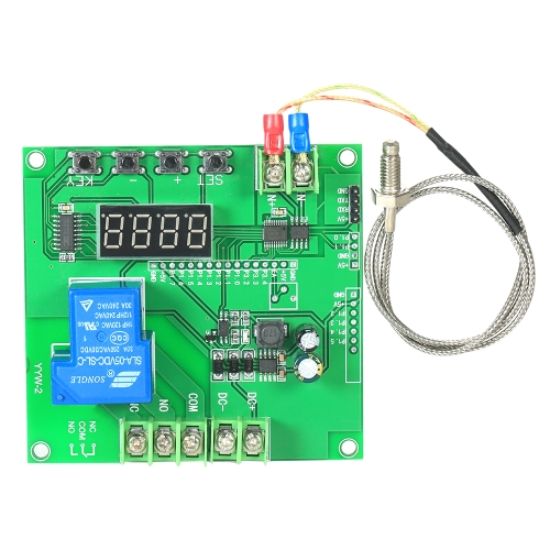 Mini Módulo de Controlador de Temperatura de LED 0 ~ 1000 ℃ Placa de Interruptor de Controle de Temperatura com K-tipo Sensor Sonda