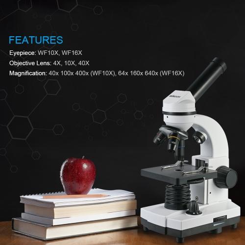 KKmoon 640X Student Educational Microscope