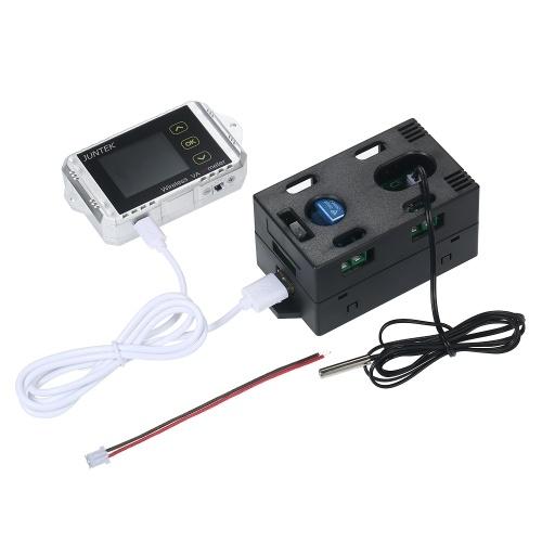 JUNTEK DC 0.01-100V 0.01-30A Multifunctional Wireless Digital Bi-directional Voltage Current Power Meter Ammeter Voltmeter Capacity Coulomb Counter