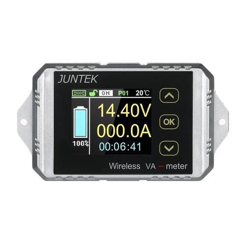 JUNTEK DC 0.01-100V 0.01-30A Multifunzionale Wireless Digitale Bi-direzionale Tensione Corrente Misuratore di potenza Amperometro Voltmetro Capacità Coulomb Counter