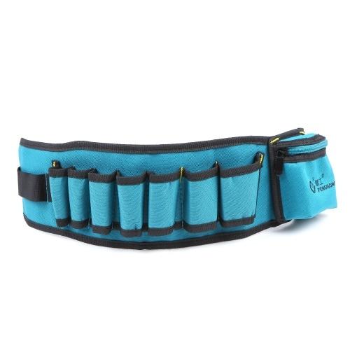 PENGGONG Multi-funzionale Marsupio Tasche porta attrezzi Marsupio Oxford Tela Scalpello Strumento di riparazione Tasche con cintura Indossabile e impermeabile per Carpentiere Hammer Utensili per elettricisti