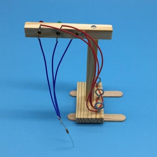 Деревянные светофоры DIY Kit Детские игрушки DIY Kit для детей Наука и технологии Изобретения Собранный эксперимент DIY Модель Строительные комплекты фото