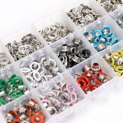 Plier Eyelets Tool 10 Colors 9.5mm Prong Snap Buttons Fasteners Press Studs Poppers Buckle Set for Children and Adult Clothes