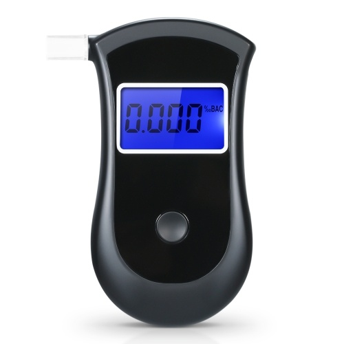 Portable Breath Alcohol Tester Breathalyzer Professional Digital Alcohol Tester with 5pcs Transparent Mouthpieces AT2600