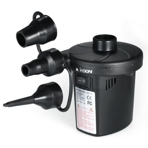 Pompa di gonfiaggio della pompa di gonfiaggio della pompa di aria ricaricabile del USB di KKmoon Pompa di gonfiaggio elettrica della pompa di aria del USB Pompa elettrica della pompa di gonfiaggio della pompa elettrica del gonfiatore per i gonfiabili con 3 ugelli