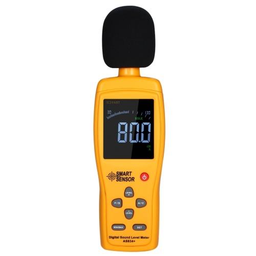 СМАРТ ДАТЧИК AS834 + Цифровой измеритель уровня звука Цифровой измеритель уровня шума ЖК-измеритель уровня звука 30-130 дБ Прибор для измерения громкости шума Тестер контроля децибел фото