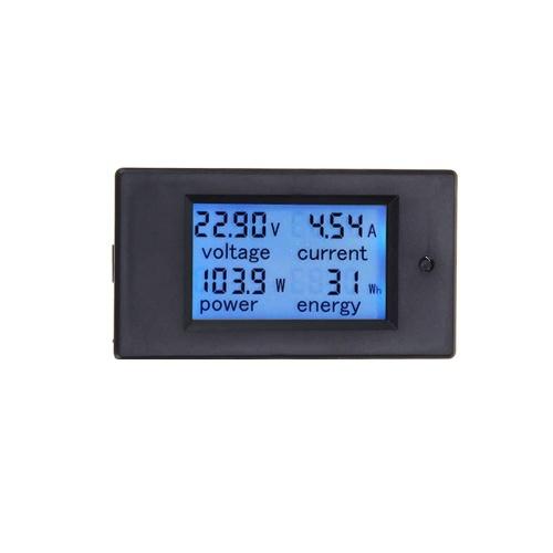 100A DC LCDパネルのデジタル力のワットメーターのモニターの電圧KWhの電圧計の電流計