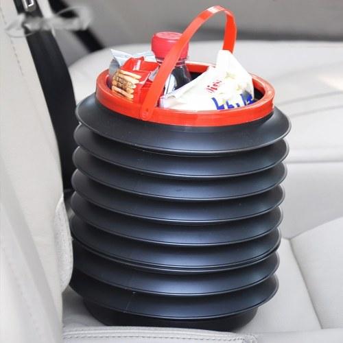 Folding trash can/outdoor portable retractable bucket/in-car storage bucket color box packaging