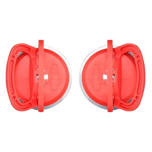 タイルレベリングシステムツール1ペアデントプーラーサクションカップダブルハンドルロック用ガラス/タイルリフティング