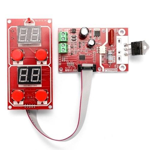 NY-D04デュアルディスプレイスポット溶接機変圧器コントローラーコントロールパネルボード時間電流調整可能100A / 40Aオプション