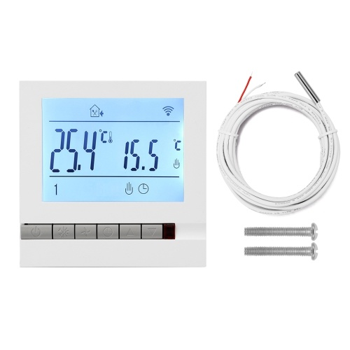 Intelligent LCD Programmable Inddor Floor Heating Room Thermostat Room Temperature Controller