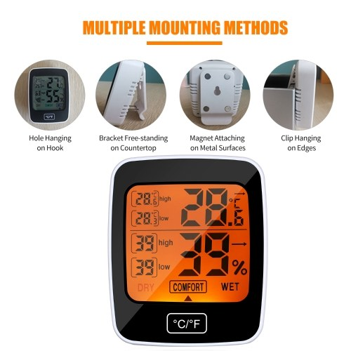 Digital Temperature Humidity Meter Thermo-hygrometer °C/°F Thermometer Hygrometer