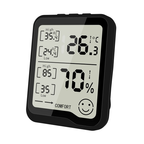 Thermometer Hygrometer Meter Hygrothermograph Thermometers and Humidity Meter Temperature Hygrometer ℃/℉ Digital Thermometer with Comfort Indication