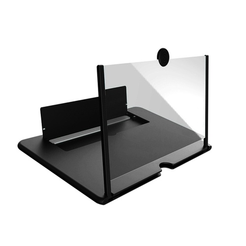 Pulling Type Mobile Phone Screen Amplifier 3D Effect Large Screen with Desk Holder Phone Screen Magnifying Folding for Movie Game