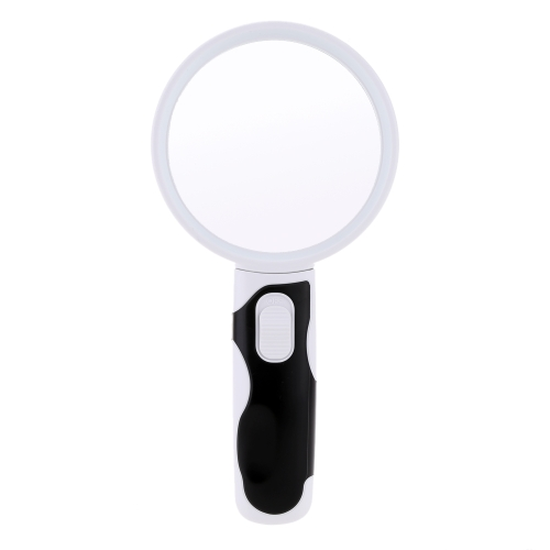 90mm/75mm/37mm 2.5X/5X/16X Multifunctional Handheld Magnifier with 2 LED Interchangeable Lens Portable Loupe Magnifying Tool