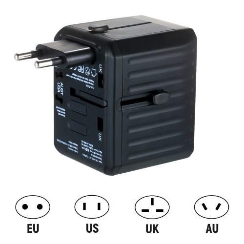 Travel Adapter 4 USB Worldwide All in One Universal Travel Adapter