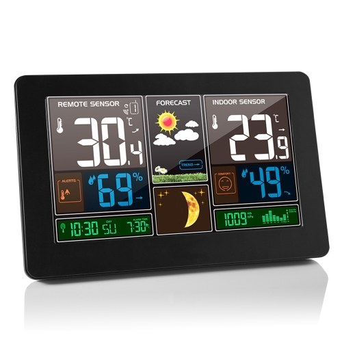 Wireless Weather Station Indoor Outdoor 3-in-1 Weather Thermometer Hygrometer Barometer