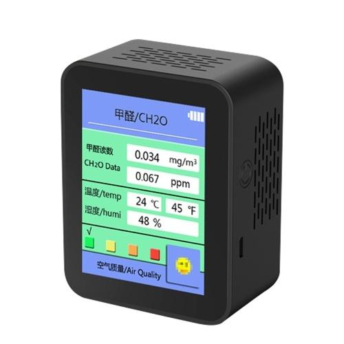 Autoprueba de formaldehído Detector rápido conveniente Profesión precisa Calidad del aire Temperatura Indicador de humedad Formaldehído Detectores de interior de nueva casa