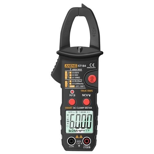 Цифровой мультиметр ANENG True RMS, токоизмерительные клещи, детектор напряжения постоянного / переменного тока, измеритель напряжения переменного тока с емкостью в омах, диод для проверки целостности цепи NCV, тестер температуры Герца