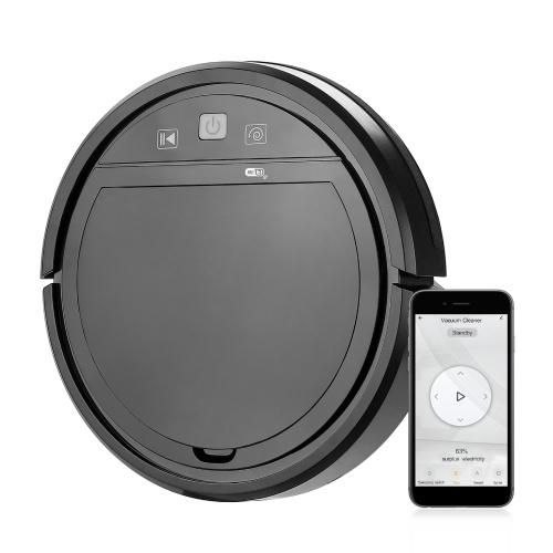 Wifi 3 em 1 Robotic Cleaner 1500Pa Potente aspirador robô aspirador 4 Mode Compatível com Alexa Google Assitant Tuya App Ideal para animais de estimação, tapetes de cabelo e pisos duros