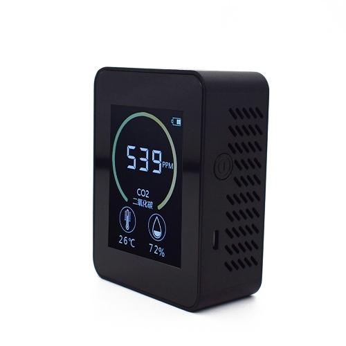 Detector de calidad del aire doméstico Multifuncional C02 Probador de temperatura y humedad Pantalla LCD con retroiluminación