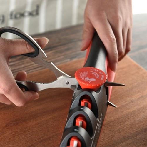 4 In 1 Segment Kitchen Sharpener Stone Home Cutter Sharpener Kitchen Hand Tool Quick Adjustable Utility Tool
