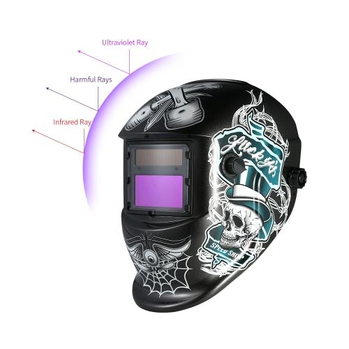 Industrial Welding Helmet Solar Power Auto Darkening Welding Helmet TIG MIG Mask Skull Grinding Hat Design