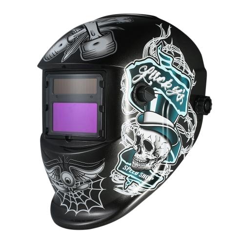Przemysłowy hełm spawalniczy Samościemniający hełm spawalniczy Solar Power TIG MIG Maska Czaszka szlifierska kapelusz Design