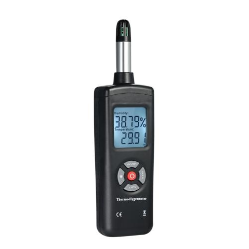 Thermomètre-Hygromètre LCD Numérique Thermomètre Hygromètre Thermomètre & Humidité Mètre Psychromètre Ampoule Humide Détecteur de Température Point De Rosée