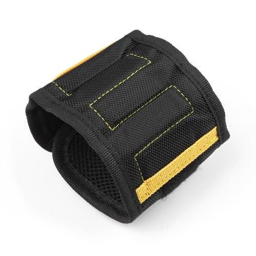 Multifunzione Magnetic Wristband Piccole parti Strumenti di adsorbimento Sacchetto portautensili portatile Elettricista Strumento da polso Viti a nastro Chiodi Punte da trapano Supporto Strumenti di riparazione