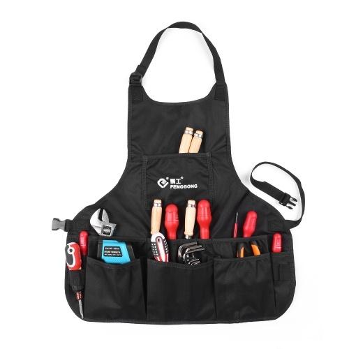 PENGGONG impermeabile tela strumenti grembiule attrezzi borsa con tasche taglia regolabile adatta uomini e donne