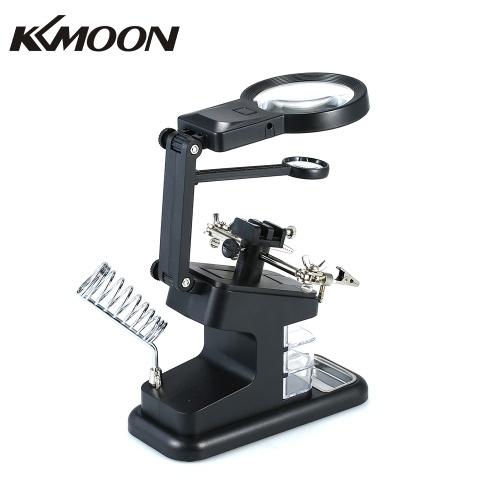 KKmoon TH7206 Многофункциональная сварочная лупа 3X / 4.5X / 25X светодиодная настольная лупа Порт USB Паяльная подставка Ремонт инструмента Лупа