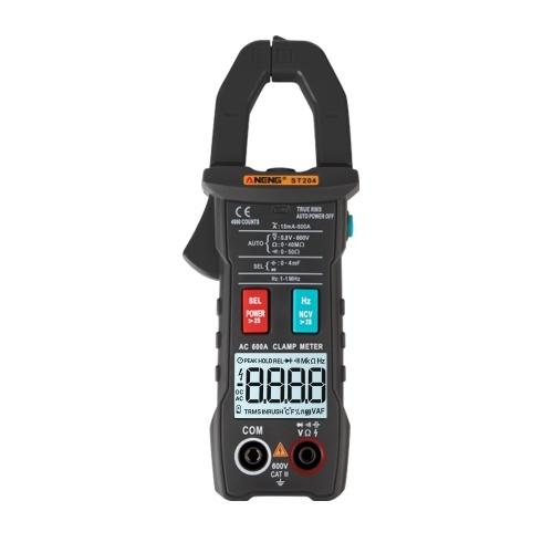 ANENG ST204 4000 Conteggi Gamma automatica intelligente completa True RMS Multimetro digitale Clamp Meter Tensione AC / DC Resistenza NCV Gamma automatica Torcia