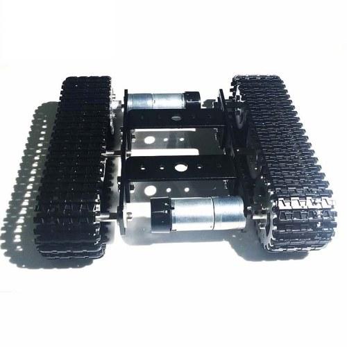 T100 Mini Tank Chassis Carro armato tipo cingolato Chassis per Arduino Intelligent Track Car / Tank Chassis Serbatoio cingolato Chassis Kit fai da te