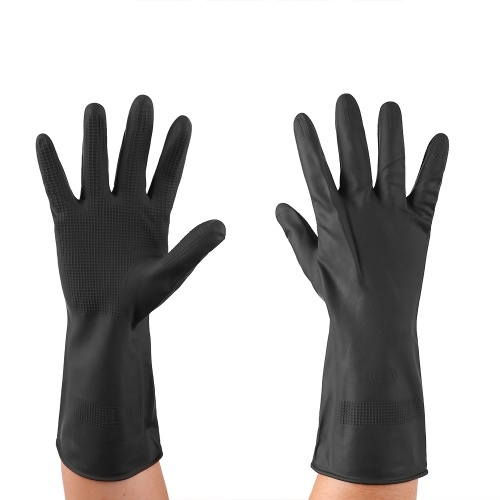Latex Gloves Chemical Resistant Waterproof Flexiable Reuseable Household Cleaning Kitchen Dishwashing Gloves