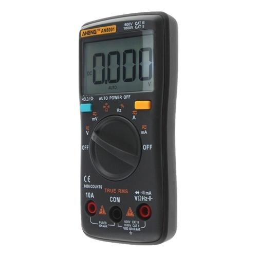 ANENG 6000 рассчитывает истинное среднеквадратичное значение Многофункциональный цифровой мультиметр Вольтметр Амперметр Ручной мини-универсальный измеритель Высокая точность измерения переменного / постоянного тока Напряжение переменного / постоянного тока Сопротивление Емкость Частота Рабочий цикл Диодный тестер фото