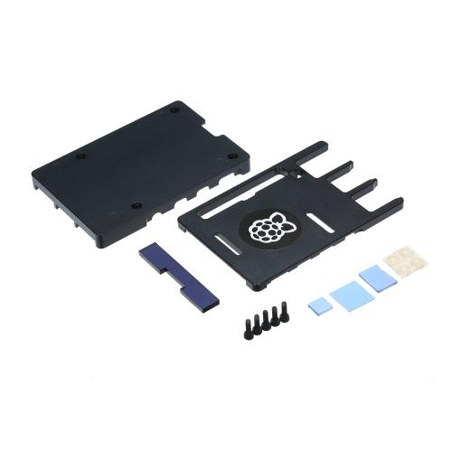 Raspberry Pi 3モデルA + Raspberry Pi CNCアルミニウムケースシルバー/ブラックメタルケース熱放散PI3ブラック用超薄型エンクロージャーハウジング