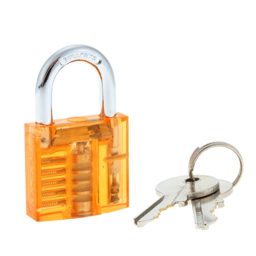 Professional Mini Transparent Visible Locksmith Training Trainer Cutaway Brass Padlock Lock Picking Practice Set Kit