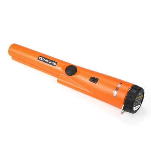 KKmoon Pinpointer金属探知機ポータブルピンポインタートレジャーハンティングツールブザー振動ベルトホルスター付き自動チューニング